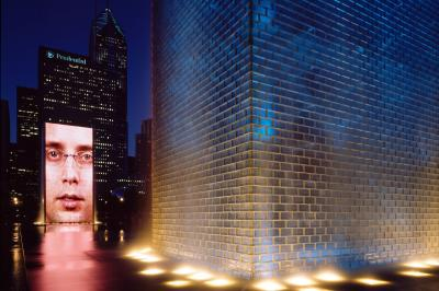 Crown Fountain, 2004, Millennium Park, Chicago