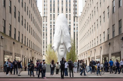 Behind the Walls, 2018 Frieze Sculpture at Rockefeller Center