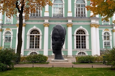 Sculpture in the Courtyard, Hermitage Museum, St Petersburg, Russia 2019