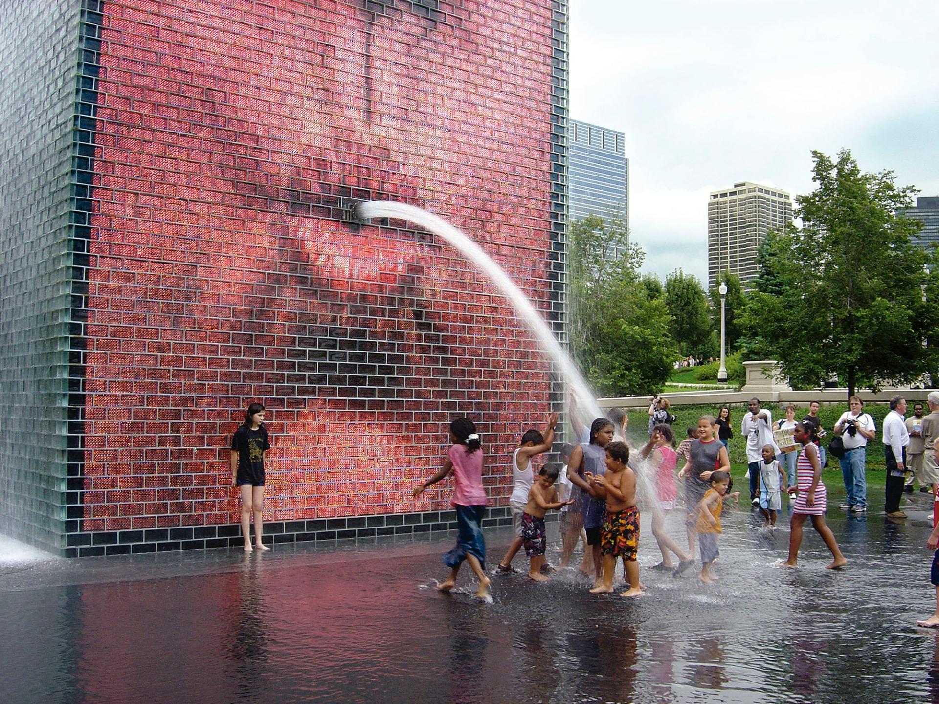 The Crown Fountain 2004 Millennium Park Chicago Usa