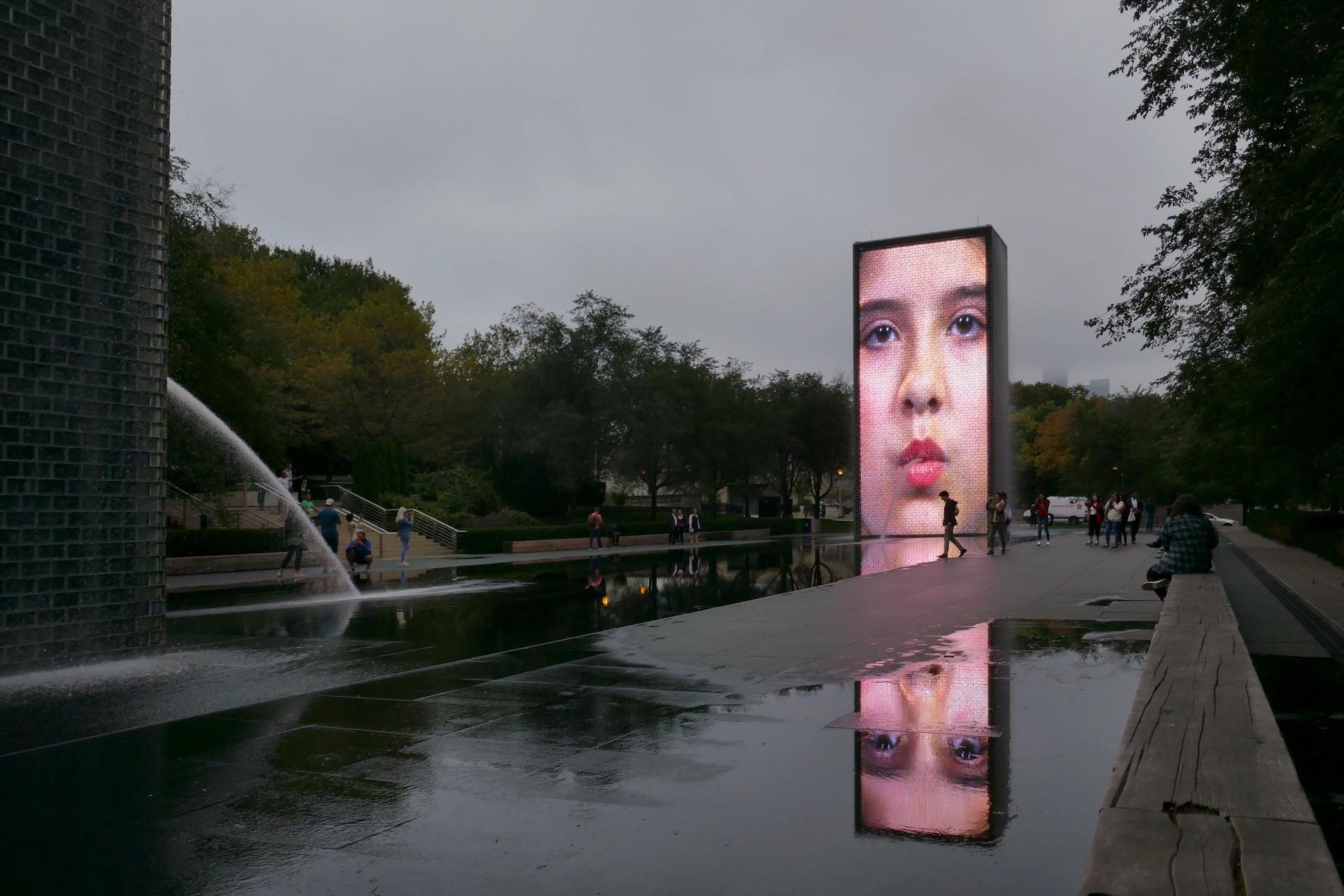 Crown Fountain 2004 Millennium Park Chicago Usa